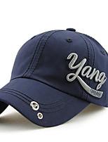 Unisex Women Men's Cotton Baseball/Peaked/Alpine Cap Sun Hat Casual Embroidery    Outdoors Sports Summer Blue/Grey/Khaki/White