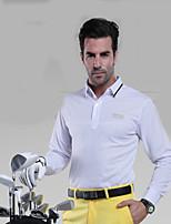 Homme Manches longues Golf Hauts/Tops Respirable Anti-transpiration Confortable Blanc Rouge Bleu Golf Sport de détente
