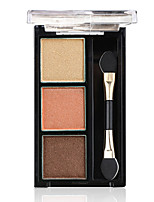 BOB 3 Eyeshadow Palette Shimmer Pumpkin Color Eyeshadow