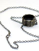 Altri accessori Ispirato da Assassino Connor Anime/Videogiochi Accessori Cosplay Collane Argento Lega