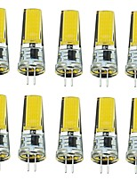 2W G4 LED Bi-pin Lights T 1 COB 250 lm Warm White Cool White Decorative AC220 V 10 pcs