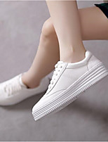 Women's Flats Spring Comfort PU Casual Black White