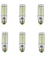 7W E27 Lâmpadas Espiga T 89 SMD 5730 600 lm Branco Quente Branco Frio Decorativa AC 220-240 V 6 pçs