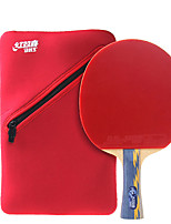 5 Stars Ping Pang/Table Tennis Rackets Ping Pang Wood Long Handle Pimples