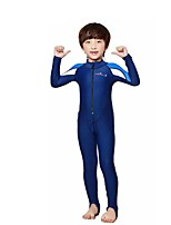 Kid's Full Wetsuit Breathable Quick Dry Compression Neoprene Diving Suit Long Sleeve Diving Suits-Diving Spring Summer FashionBlue Yan
