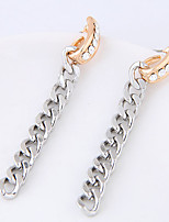 Drop Earrings Euramerican Fashion Rhinestone Alloy Single Strand Silver Jewelry For Daily 1 Pair