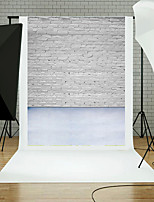 5x7FT Brick Wall Floor Photography Background Studio Props Blue Board Theme New