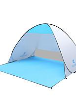 2 personnes Tente Unique Tente automatique Une pièce Tente de camping 1000-1500 mm Fer Résistant à l'humidité Etanche Respirabilité-Pêche