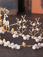 Crystal Alloy Imitation Pearl Headpiece-Wedding Tiaras 1 Piece