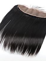 8-20 dentelle 13x4 naturel noir cheveux vierge fermeture frontale brazilian avec fermeture dentelle frontale droite pâli noeuds avec des