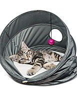 Cat Bed Pet Baskets Solid Breathable Foldable Gray