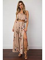 Damen einfarbig Einfach Lässig/Alltäglich Shirt Kleid Anzüge,Rundhalsausschnitt