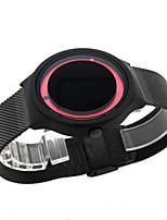 Men's Fashion Watch Digital Watch Chinese Quartz PU Band Black White