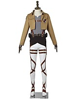 Inspired by Attack on Titan Mikasa Ackermann Anime Cosplay Costumes Cosplay Suits Fashion Long Sleeve For Male Female