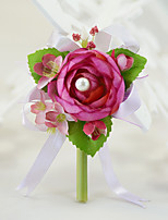 YUXIYING Wedding Flowers Small camellia Boutonnieres Corsages Wedding Party
