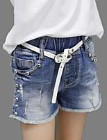 Mädchen Jeans Lässig/Alltäglich Sport einfarbig Druck Baumwolle Sommer