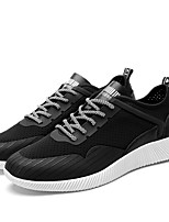 Men's Sneakers Spring Fall Comfort PU Casual Lace-up Gray Black