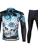 Ilpaladin Sport Men Long Sleeve Cycling Jerseys Suit CT738