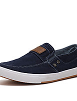 Men's Loafers & Slip-Ons Spring Summer Comfort Canvas Outdoor Athletic Casual Flat Heel Blue Army Green Walking