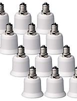 Youoklight 12pcs e12 para e27 luz lâmpada bulbo adaptador conversor - branco