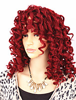 Beauty Kinky Curly Hair Wigs with Medium Red Deep Wave Women's Hair Heat Resistant  Perruque Synthetic Wig