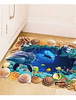 3D Underwater Caves Sitting Room Bedroom Adornment Wall Stick Floor