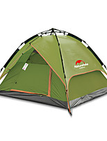 3-4 persons Tent Double Fold Tent One Room Camping Tent Oxford Foldable Portable-Camping Outdoor-Army Green