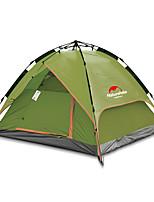 3-4 personnes Tente Double Tente pliable Une pièce Tente de camping Oxford Pliable Portable-Camping Extérieur-Olive
