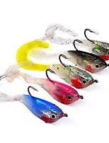 5 pcs Soft Bait Jig head Fishing Lures Fishing Accessories Soft Bait Jigs Jig Head Shad Assorted Colors g/Ounce,51 mm/2-1/8