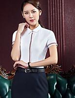 Silke Solid Kortermet,Skjortekrage Polo Ensfarget Sexy Dame