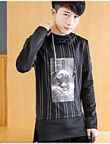 Men's Casual/Daily Sweatshirt Solid Round Neck Micro-elastic Cotton