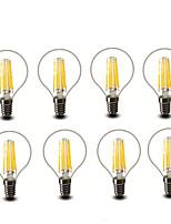 ® Shenmeile 4.5W E14 E27 LED Filament Bulbs G45 6 COB 600 lm Warm White Decorative AC220 AC230 AC240 V 8 pcs