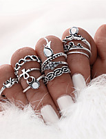 Fashion 10pcs/Set Gold Color Flower Midi Ring Sets for Women Silver Color Boho Beach Vintage Turkish Punk Elephant Knuckle Ring Mother's Day Gift