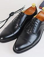 Черный Коричневый-Для мужчин-Повседневный-ПолотноУдобная обувь-Туфли на шнуровке