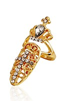 Ring Euramerican Cross Rhinestone Zinc Alloy Jewelry For Wedding Party Special Occasion 1pc