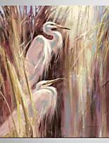 Estampado Giclée Abstrato Moderno Pastoril,1 Painel Tela Quadrangular Impressão artística Decoração de Parede For Decoração para casa
