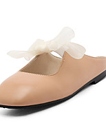 Women's Slippers & Flip-Flops Summer Fall Slingback PU Dress Casual Flat Heel Bowknot Almond Army Green Black White