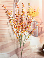 1PC 4 heads flower  Branch Dried Flower Daisies Violet Tabletop Flower Artificial Flowers