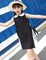 Girl's Patchwork Dress,Polyester Summer Sleeveless