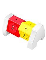 ABS bande de puissance colorée 4 ports avec port de chargement 2 usb 180 degrés de rotation libre sur la protection de la gamme