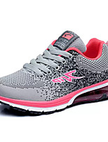 Women's Athletic Shoes Comfort Tulle Spring Fall Casual Walking Comfort Split Joint Flat Heel Fuchsia Light Grey Orange/Black 2in-2 3/4in