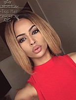 Glueless Full Lace Wig Ombre Two Tone Color #1b T #27 Lace Front Wigs Hot Selling Human Hair Bob Wigs For Black Women
