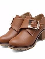 -Для женщин-Повседневный-Полиуретан-На толстом каблуке-Босоножки-Ботинки