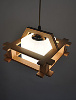 Lampe suspendue ,  Contemporain Rustique Bois Fonctionnalité for LED Bois/BambouSalle de séjour Chambre à coucher Salle à manger Cuisine