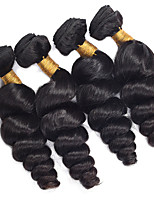 Natural Color Hair Weaves Peruvian Texture Loose Wave 12 Months 4 Pieces hair weaves