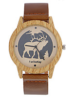 Top brand Men's Bamboo Wooden Bamboo Watch Quartz Leather Strap Men Watches