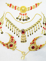 Belly Dance Headpieces Women's Performance Metal Crystals/Rhinestones 6 Pieces