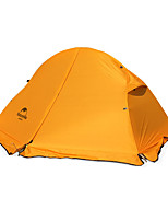 1 person Tent Double Fold Tent One Room Camping Tent Nylon Silicone Foldable Keep Warm-Camping