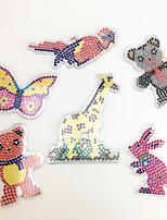 3PCS 5MM Fuse Beads Template Clear Pegboard Colorful Giraffe Parrot Bear Shape Pegboard DIY Jigsaw for 5mm Fuse Beads(Random Mixed Shape)