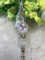 Dames Armbandhorloge Gesimuleerd Diamant Horloge Chinees Kwarts / imitatie Diamond Legering Band Vrijetijdsschoenen Goud Rose